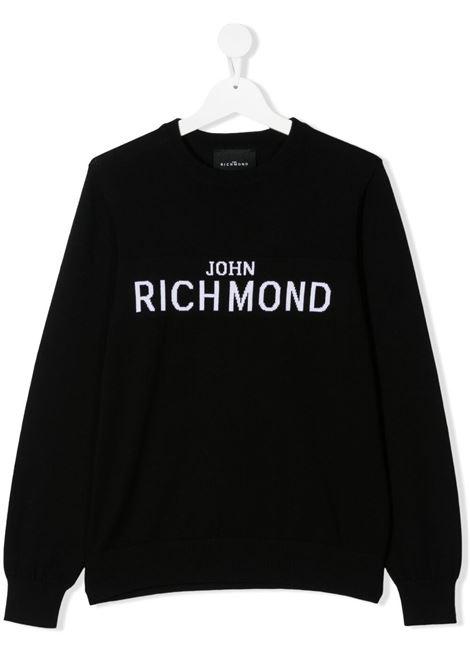 Felpa RICHMOND KIDS | MAGLIONE | RBP21066MAOSTBLACKWHT