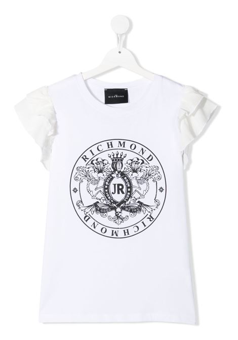 White t-shirt RICHMOND KIDS | T-SHIRT | RGP21042TSLSTWHITE