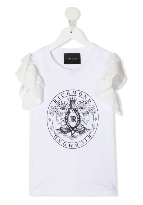 White t-shirt RICHMOND KIDS | T-SHIRT | RGP21042TSLSWHITE