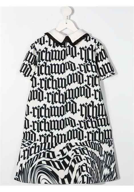 White/black dress RICHMOND KIDS | DRESS | RGP21101VEHBOSCHOOLR