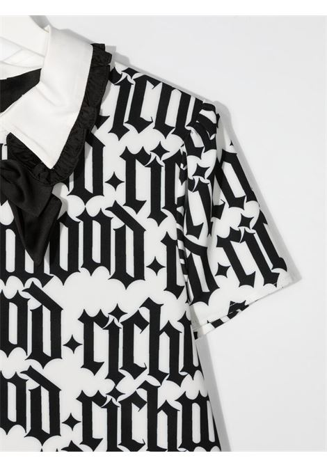 White/black dress RICHMOND KIDS | DRESS | RGP21101VEHBTOSCHOOLR