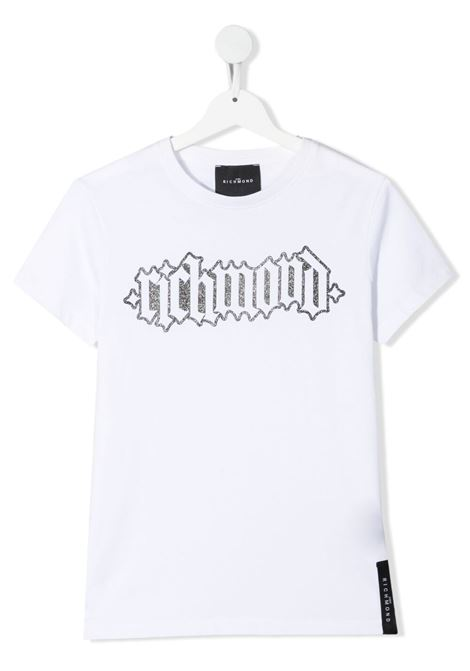 White t-shirt RICHMOND KIDS | T-SHIRT | RGP21107TSLSTWHITE