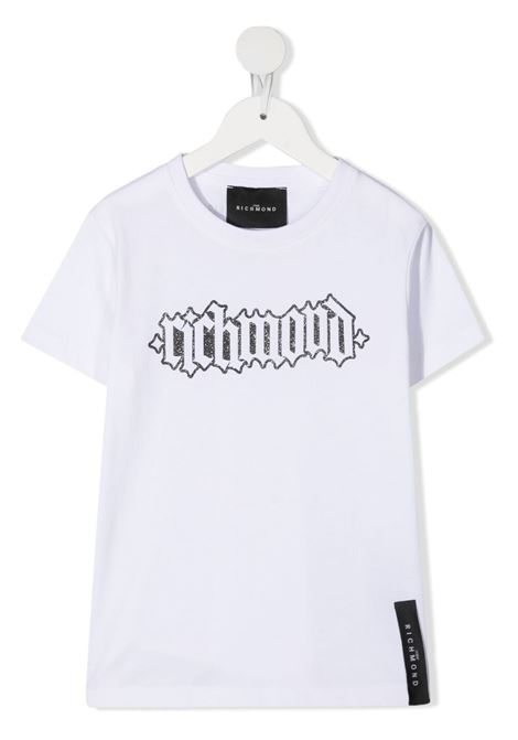 White t-shirt RICHMOND KIDS | T-SHIRT | RGP21107TSLSWHITE