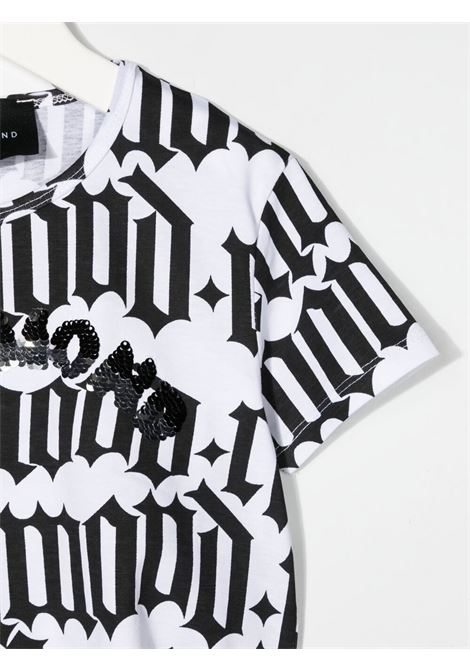White/black t--shirt RICHMOND KIDS | T-SHIRT | RGP21163TSLSOSCHOOLR