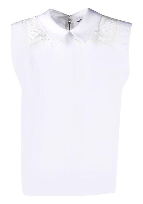 Camicia bianca SELF PORTRAIT | CAMICIE | SS21045SCWHITE
