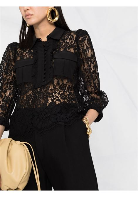 Camicia nera SELF PORTRAIT | CAMICIE | SS21049BLACK