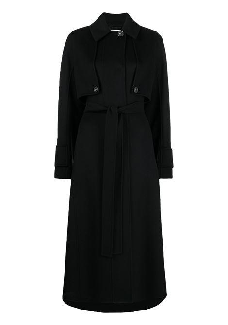 Cappotto nero SPORTMAX | CAPPOTTI | 20110117600705009