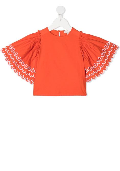Top arancio STELLA Mc.CARTNEY KIDS | MAGLIE | 602830SQK796561