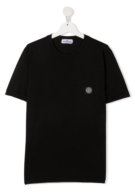 T-shirt nera STONE ISLAND KIDS | T-SHIRT | MO741620347TV0029