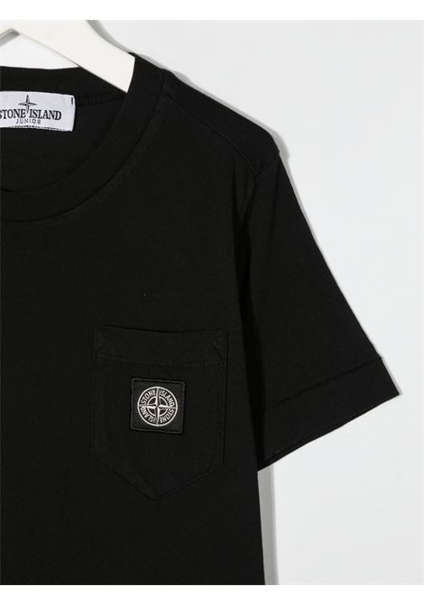 T-shirt nera STONE ISLAND KIDS | T-SHIRT | MO741620347V0029