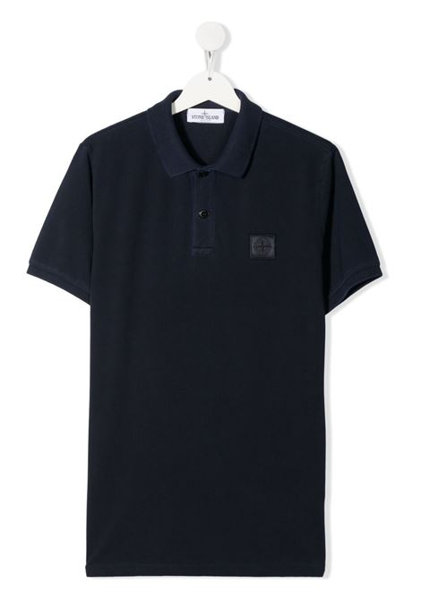 Polo blu STONE ISLAND KIDS | POLO | MO741620949TV0028