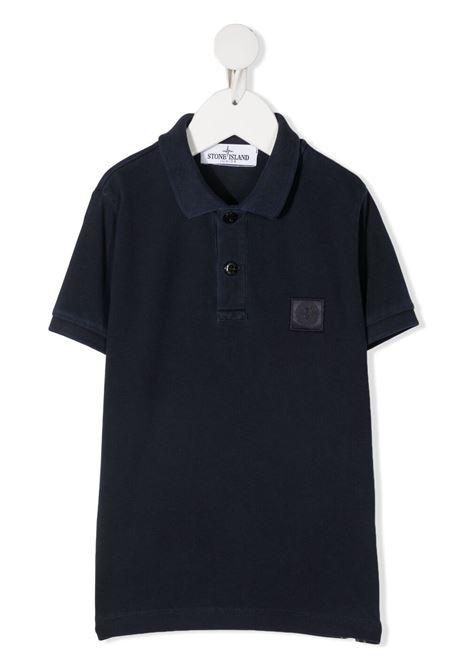 Polo blu STONE ISLAND KIDS | POLO | MO741620949V0028