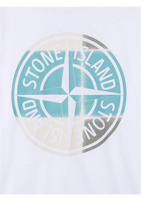 T-shirt bianca STONE ISLAND KIDS | T-SHIRT | MO741621052TV0001