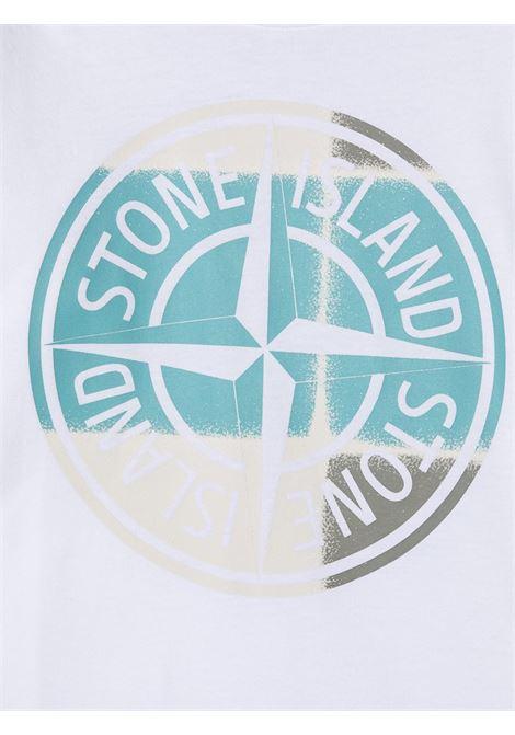 T-shirt bianca STONE ISLAND KIDS | T-SHIRT | MO741621052V0001