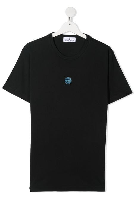 T-shirt nera STONE ISLAND KIDS | T-SHIRT | MO741621057TV0029