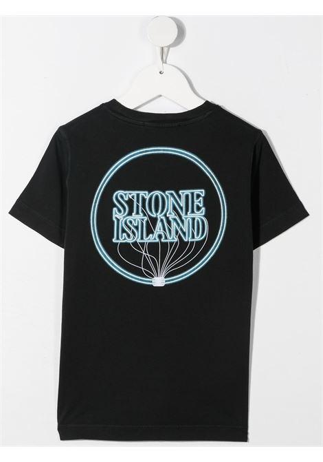 T-shirt nera STONE ISLAND KIDS | T-SHIRT | MO741621057V0029