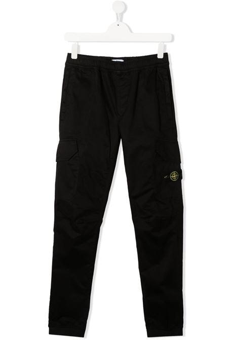Pantalone nero STONE ISLAND KIDS | PANTALONI | MO741630412TV0029