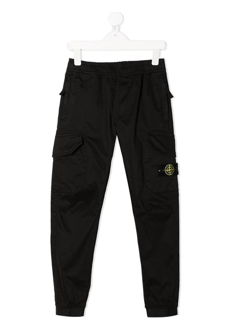 Pantalone nero STONE ISLAND KIDS | PANTALONI | MO741630412V0029