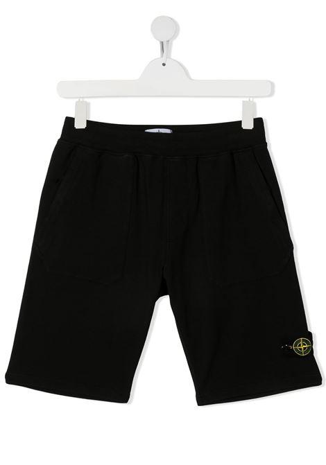Shorts neri STONE ISLAND KIDS | BERMUDA | MO741661442TV0029