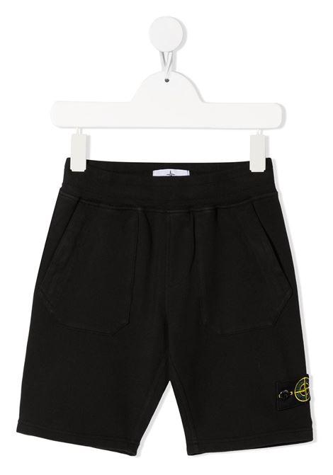 Shorts neri STONE ISLAND KIDS | BERMUDA | MO741661442V0029