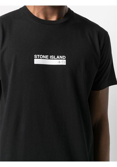 Black t-shirt STONE ISLAND | T-SHIRT | MO74152NS55V0029