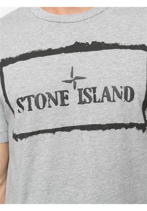 Grey t-shirt STONE ISLAND | T-SHIRT | MO74152NS80V0M64