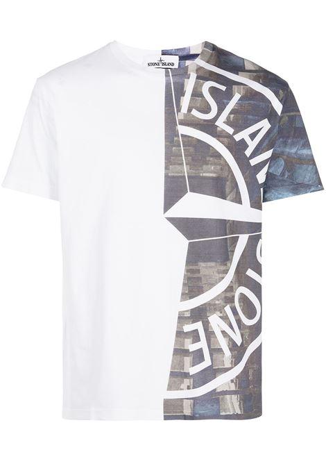 White t-shirt STONE ISLAND | MO74152NS88V0001