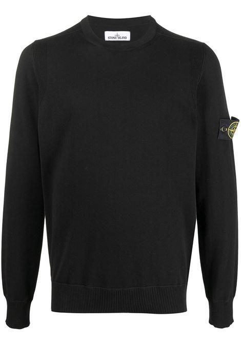 Black jumper STONE ISLAND | SWEATSHIRTS | MO7415504B2V0029
