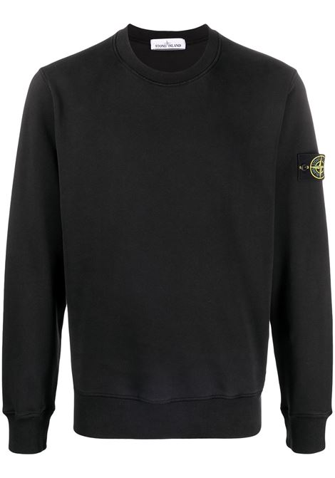 Black sweatshirt STONE ISLAND | SWEATSHIRTS | MO741563051V0029