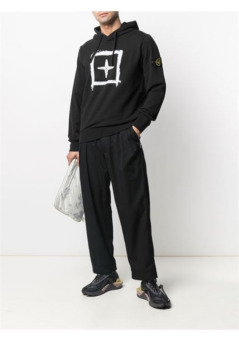 Black sweatshirt STONE ISLAND | SWEATSHIRTS | MO741565894V0029