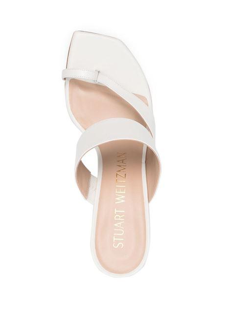 Sandalo bianco STUART WEITZMAN | SANDALI | LYLA75SANDALLARWHT