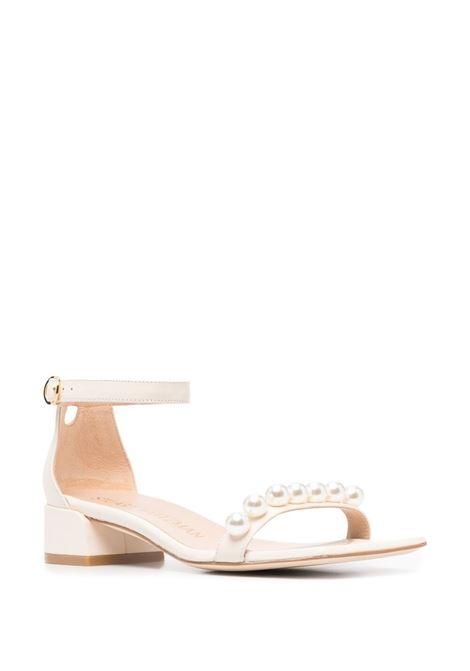 Sandalo bianco STUART WEITZMAN | SANDALI | NUDISTJUNESQUPEARLCHIPY1