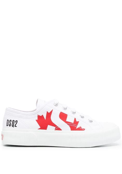 Sneakers bianca/rossa SUPERGA X DSQUARED | SNEAKERS | SNW0133003000011062
