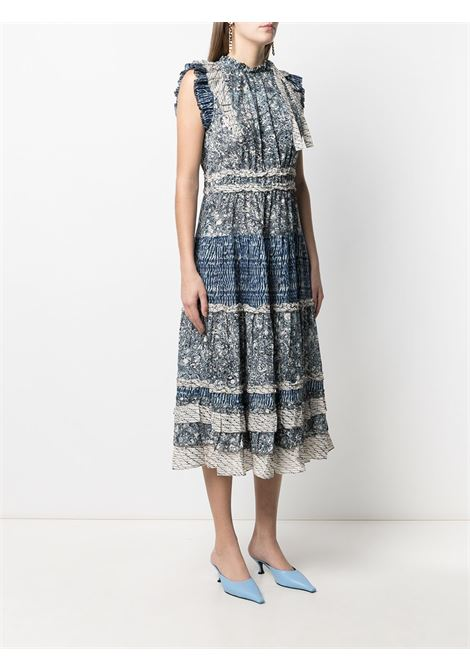 Blue/white dress ULLA JOHNSON |  | PS210111IND
