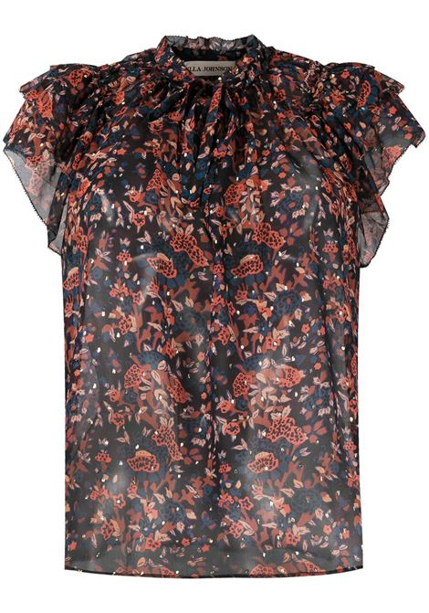Blusa nera ULLA JOHNSON | BLUSE | PS210231COSMO