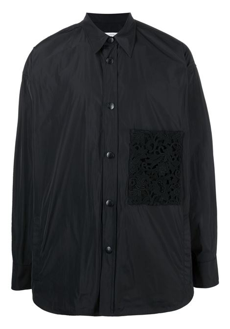 Camicia nera VALENTINO | GIUBBINI | VV0CIH367BR0NO