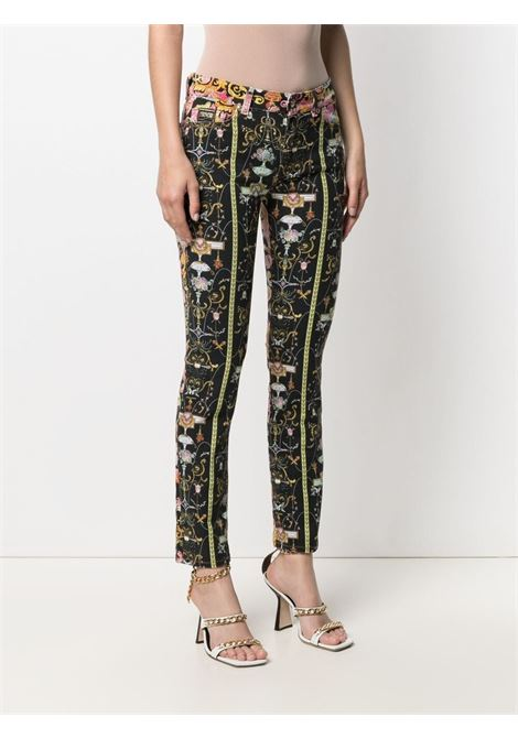 Black/multicolour trousers VERSACE JEANS COUTURE | TROUSERS | A1HWA0SMSR77Q899