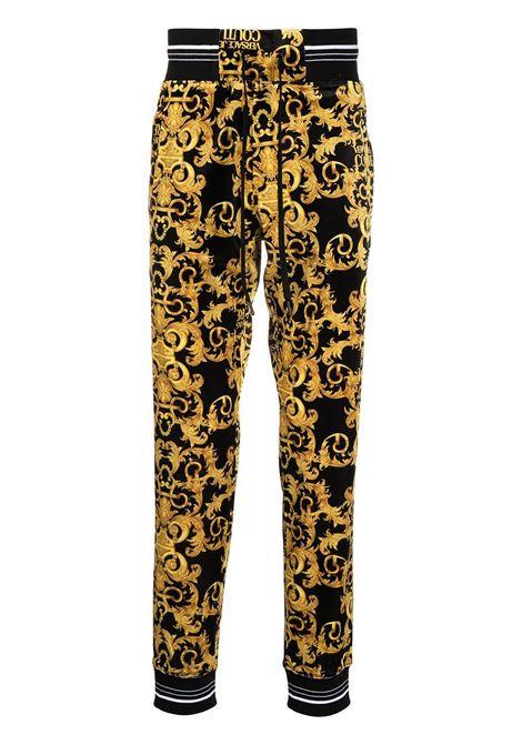 Pantalone nero/dorato VERSACE JEANS COUTURE | PANTALONI | A2GWA1F1S0034899
