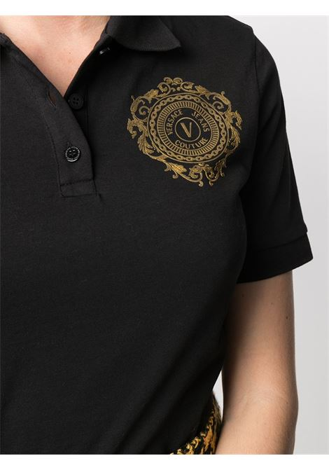Polo nera VERSACE JEANS COUTURE | POLO | B2HWA7FB30454K42