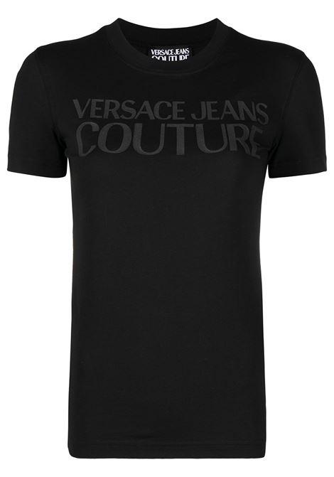 T-shirt nera VERSACE JEANS COUTURE | B2HWA7TA30454899