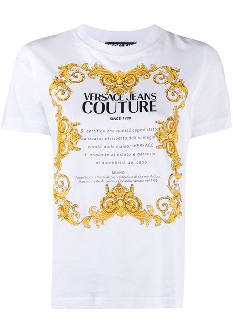 T-shirt bianca VERSACE JEANS COUTURE | B2HWA7TJ30319003