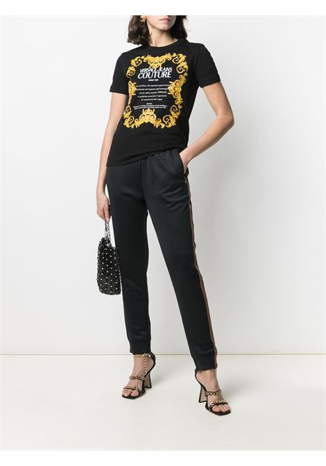 T-shirt nero VERSACE JEANS COUTURE | B2HWA7TJ30319899