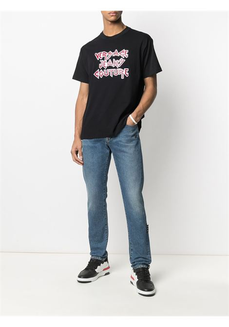 T-shirt nera VERSACE JEANS COUTURE | T-SHIRT | B3GWA73911620899