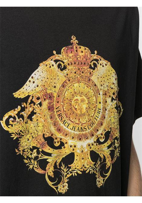 T-shirt nera VERSACE JEANS COUTURE | T-SHIRT | B3GWA74011620899