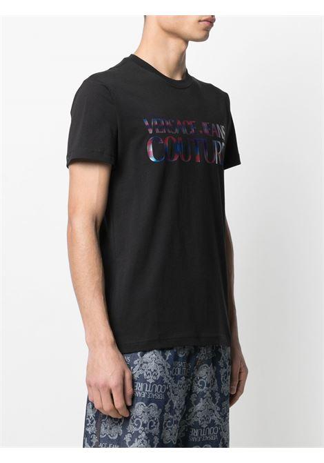 Black t-shirt VERSACE JEANS COUTURE | B3GWA7GB30382899