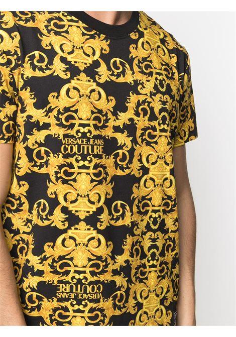 T-shirt nera VERSACE JEANS COUTURE | T-SHIRT | B3GWA7S0S0155899