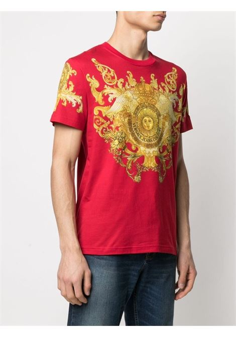 T-shirt rossa VERSACE JEANS COUTURE | T-SHIRT | B3GWA7S1S0274514