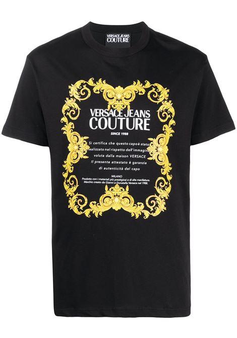 T-shirt nera VERSACE JEANS COUTURE | T-SHIRT | B3GWA7TJ30319K42