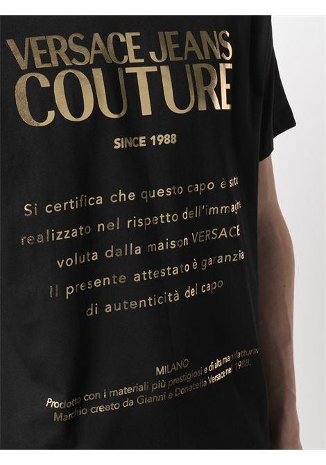 T-shirt nera VERSACE JEANS COUTURE | T-SHIRT | B3GWA7VT30319K42