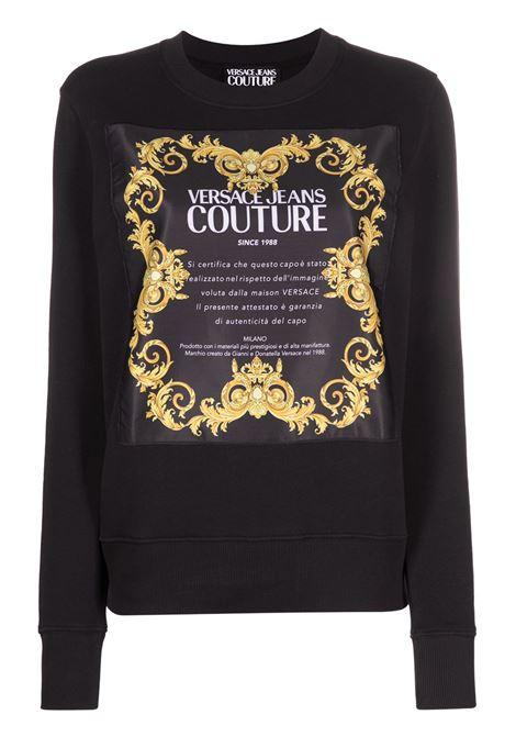 Felpa nera VERSACE JEANS COUTURE | FELPE | B6HWA7FE30453899